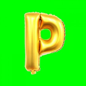 balon literka-P
