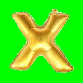 balon litera-X-złota