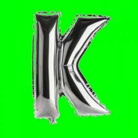balon-litera-K-srebrny