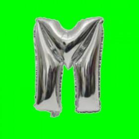balon-litera-M-srebrna