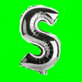 balon-literka-S-srebrna