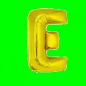 balon-litera-E-złoto
