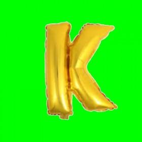 balon-litera-K-złota