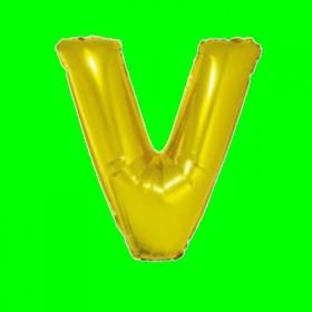 balon-litera-V-złota