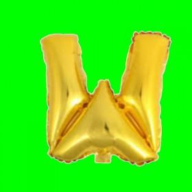 balon-litera-W-złota