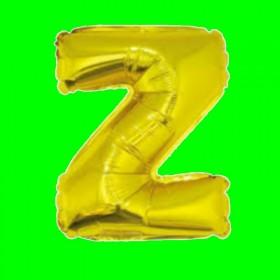 balon-litera-Z-złota