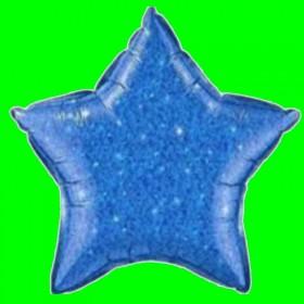Balon gwiazdka granatowa-brokat