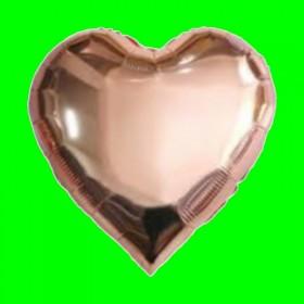 Balon serce -różowe złoto-45 cm