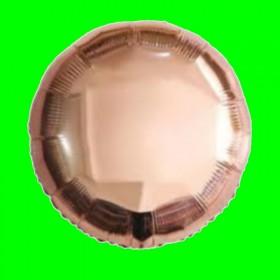 Balon okrągłe różowe złoto 45 cm