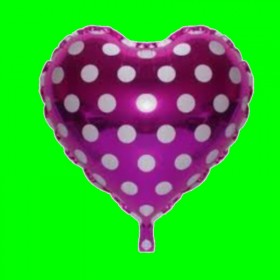 Balon fiolet w białe grochy