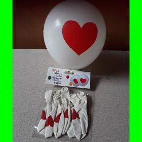 Balon-biały-czerwone-serce