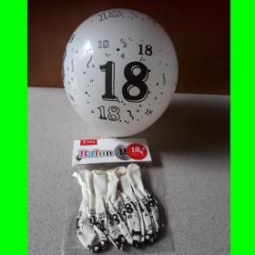 Balon-biały-18-urodziny szt-5