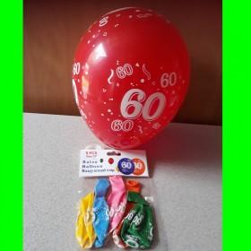 Balon cyfry-60-kolorowe