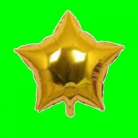 balon gwiazdka złota