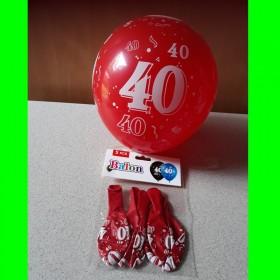 Balon  czerwony -40-op 5 szt
