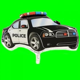 Balon włoski Policja czarna 80 cm
