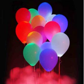 Świecący balon  perłowy LED - BIAŁY różne kolory balona