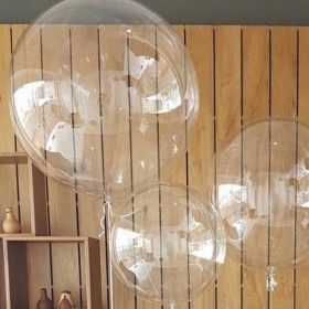 Balon transparentny 90 cm bubbles
