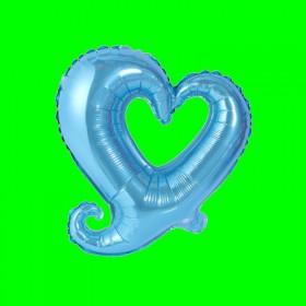 Balon Serce niebieskie