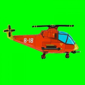 Balon helikopter czerwony