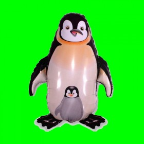 Balon włoski pingwin czarny 90 cm