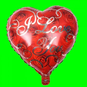 Balon Serce I Love You
