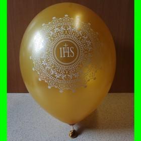 Balon PIERWSZA KOMUNIA- złoty