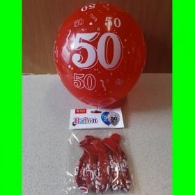 Balon cyfry-50- czerwone