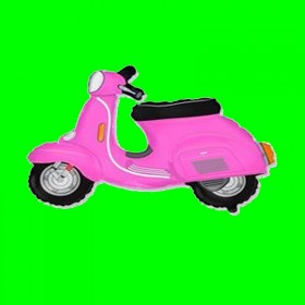 Balon skuter różowy