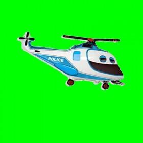 Balon włoski helikopter policja niebieski 90 cm
