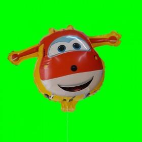 Balon samolot żółty z patykiem-18 cali