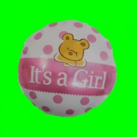 Balon narodziny dziewczynki