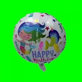 Balon syrenka HAPPY 45 cm