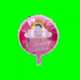 Balon  happy chmurka różowa