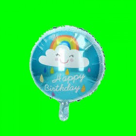 Balon  happy chmurka niebieska