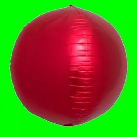 Balon okrągły -3D czerwony