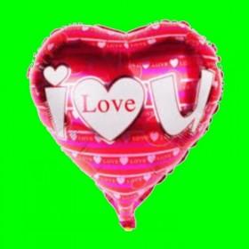Balon serce czerwone   ilove w serduszka