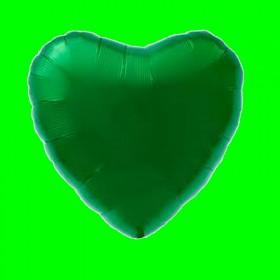 Balon serce zielone