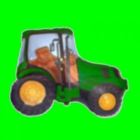 Balon traktor zielony