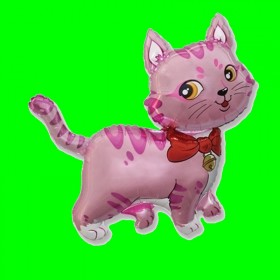 Balon włoski  kot różowy-14 cali
