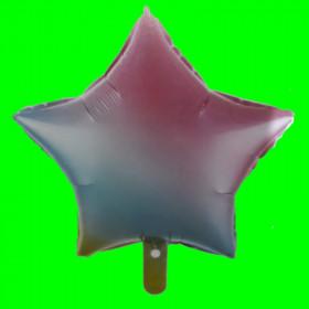Balon gwiazda -tęcza