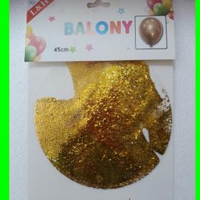 Balon -transparent-z brokatem