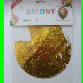 Balon -transparent-z brokatem 60 cm
