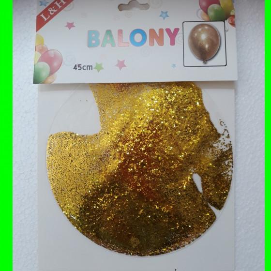 Balon -transparent-z brokatem 60 cm