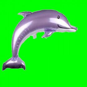 Balon  delfinek fioletowy 40 cali