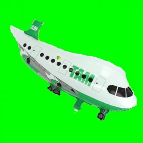 Balon samolot-TAM-zielony  80 cm