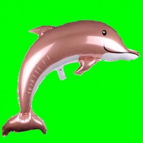 Delfinek różowe złoto- 100 cm