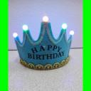Opaska-świecąca-korona niebieska