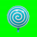 Balon lizak turkus 18 cali