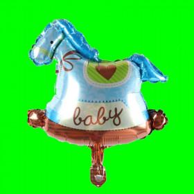 Balon konik niebieski-30 cm